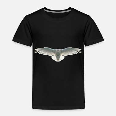 Snowy Owl Owl Polygon Bird Animal Wild Animal Eagle Owl - Kids' Premium T-Shirt