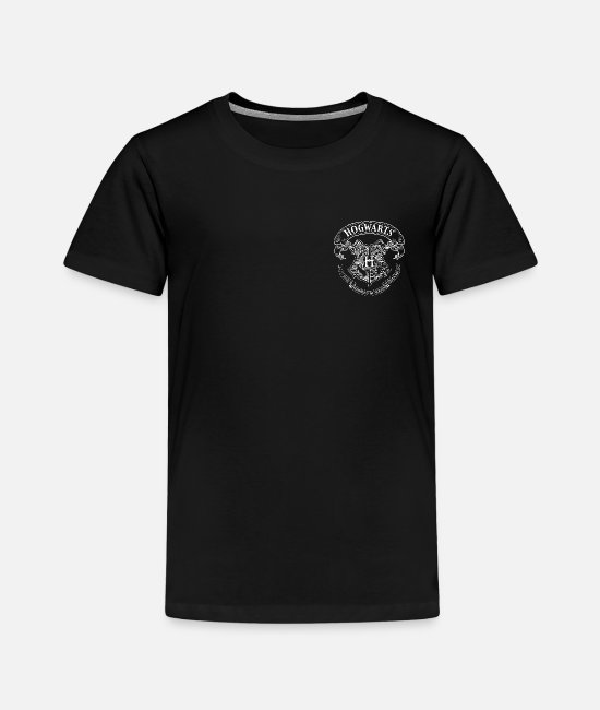 Official License T-shirts - Harry Potter Coat of Arms of Hogwarts small - Premium T-shirt til børn sort