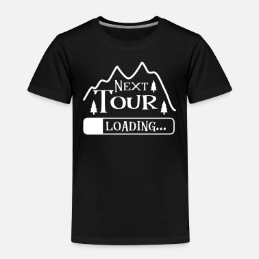 Hiking climbing mountaineering tour shop mountain nature - Kids' Premium T-Shirt