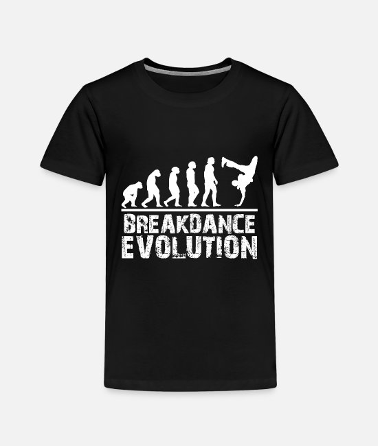 Gift T-shirts - Breakdance Evolution Gift Kid Boy Hip Hop - Kinderen premium T-shirt zwart
