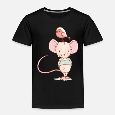 Mouse Mouse with bird - Kids' Premium T-Shirt