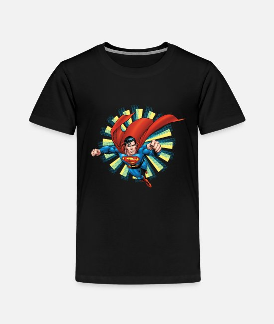 Superhero T-shirts - Superman Flying Pose Teenager Longsleeve - Premium T-shirt til børn sort