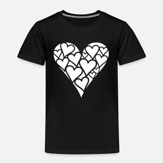 disco Cœur I LOVE T-shirt Imprimé Enfants