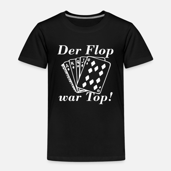 Cards T-Shirts - Poker,BlackJack,Geld,Flush,Ass,Risiko,König,Bube - Kinder Premium T-Shirt Schwarz