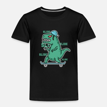 Dino Dino Tyrannosaurus on the skateboard - Kids' Premium T-Shirt