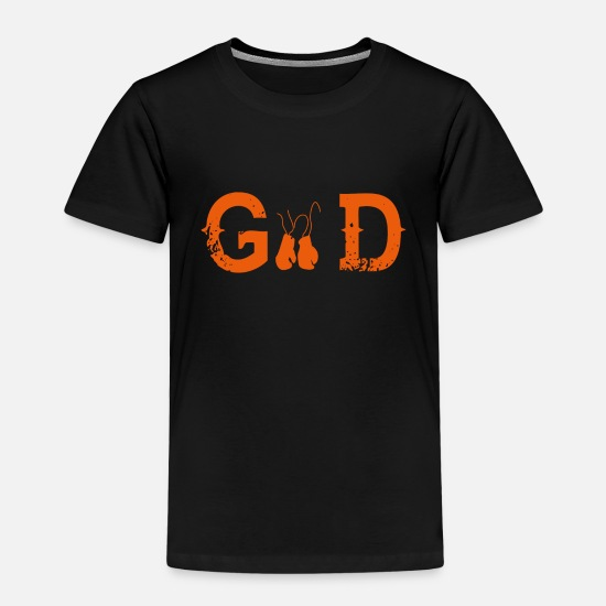 Birthday T-Shirts - Legend god god boxing - Kids' Premium T-Shirt black