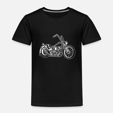 Motorcycle Chopper / Bobber Motorcycle 02_white - Kids' Premium T-Shirt