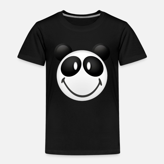 Panda T-shirts - Smiley Panda - Premium T-shirt barn svart