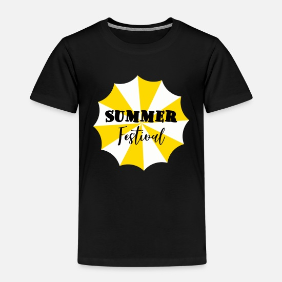 Party T-Shirts - Summer Summer Festival Music Gift - Kids' Premium T-Shirt black