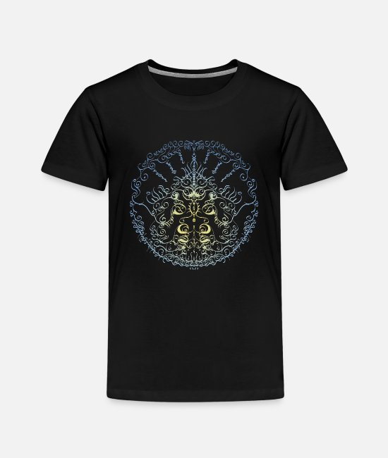 Artist T-Shirts - Circle of the wise - Kids' Premium T-Shirt black