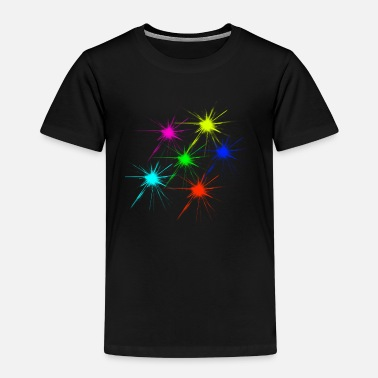 Farbklecks farbklecks bunt techno rave - Kinder Premium T-Shirt