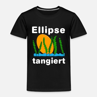 Ellipse Ellipse tangiert - Kinder Premium T-Shirt