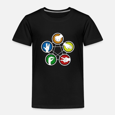 Feuille Rock Paper Scissors Lizard Spock - T-shirt premium Enfant