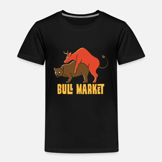Capitalist T-Shirts - Bull market, stock exchange financials economy - Kids' Premium T-Shirt black