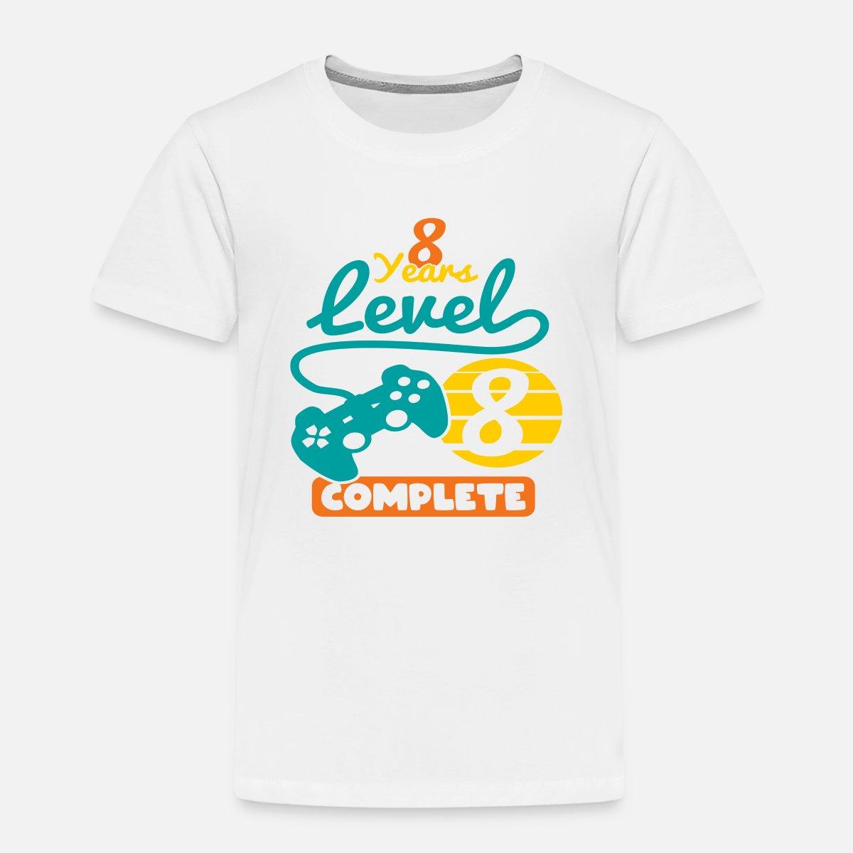8. Geburtstag 8 Jahre Level 8 Complete Geschenk' Kinder Premium T ...