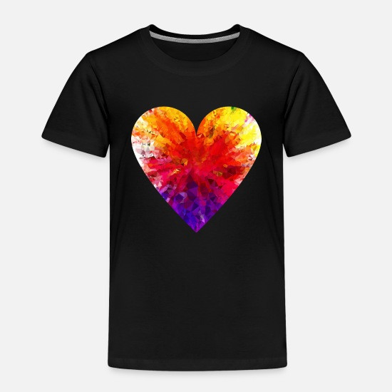 Colourful T-Shirts - Colourful Heart - Kids' Premium T-Shirt black