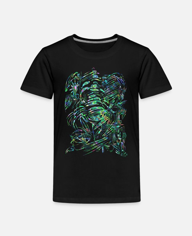 Tropisch T-Shirts - tropical alien / Karibik Science- Fiction - Kinder Premium T-Shirt Schwarz