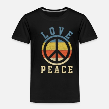 Love & Peace - Vintage 70s Hippie Gift - Kids' Premium T-Shirt
