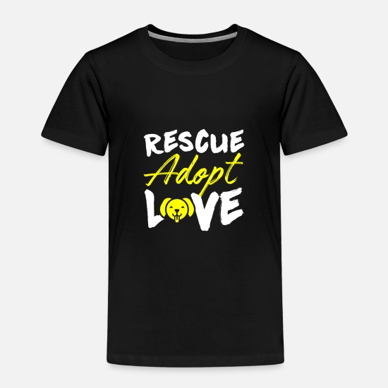 Pet T-Shirts - Dog Love I Love Dog Four-legged Dachshund Puppy Dog - Kids' Premium T-Shirt black