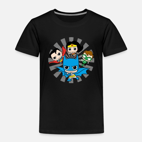 League T-Shirts - DC Comics Originals Chibis - Kinder Premium T-Shirt Schwarz