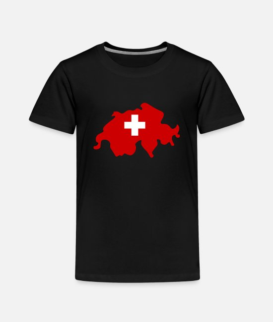 Red T-Shirts - Switzerland - Kids' Premium T-Shirt black
