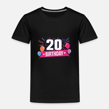 Birthday Party 20th Birthday Party Balloons Banner Gift Idea - Kids' Premium T-Shirt