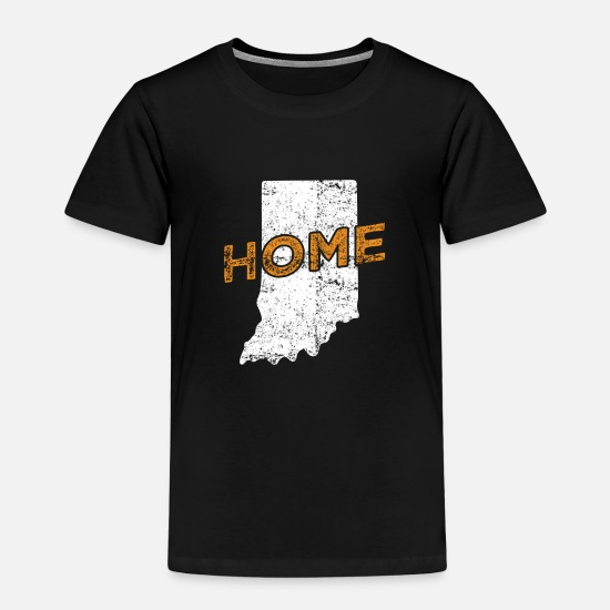 Gift T-Shirts - Indiana Home Distressed - Kinder Premium T-Shirt Schwarz