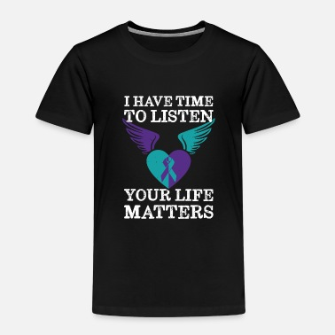 Heart Wings Ribbon Your Life Matters Mental Health Suicide Awareness - Kids' Premium T-Shirt