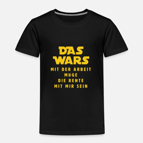Birthday T-Shirts - The Wars - Kids' Premium T-Shirt black