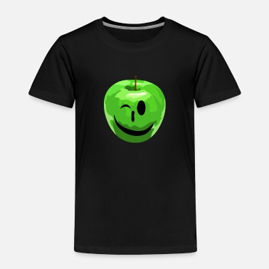 Apfel Green Apple Smile Face - Apfel Gesicht - Kinder Premium T-Shirt