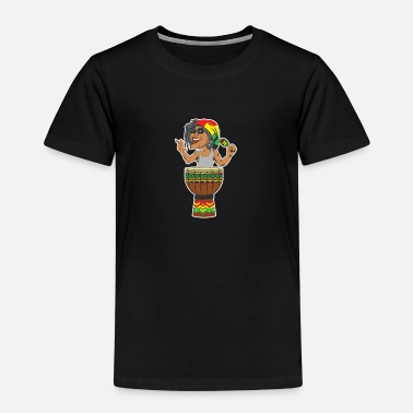 Jamaica Reggae Drum Maracas design for Jamaica music fans - Kids' Premium T-Shirt