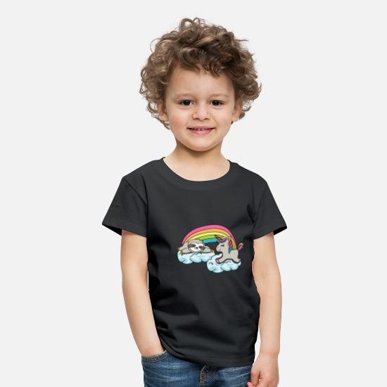 Unicorn T-shirts - Unicorns sloth lover gift giftidea - Premium T-shirt til børn sort