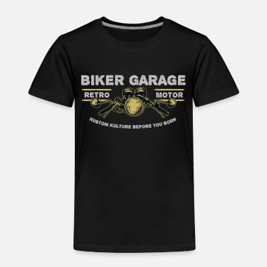 Garage-music Biker garage - Kids' Premium T-Shirt
