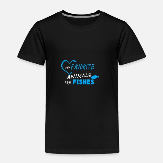 Taucher T-Shirts - my favorite animals are fishes - Kinder Premium T-Shirt Schwarz
