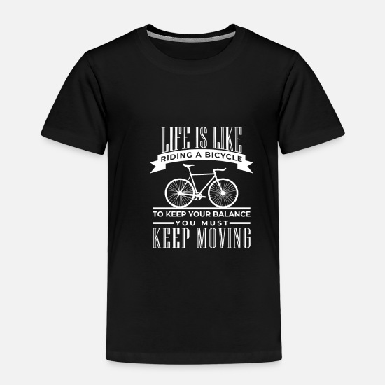 Gift Idea T-Shirts - Bike Bike Riding Biking Bike MTB Dirt - Kids' Premium T-Shirt black