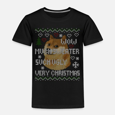 Doge Meme Ugly Christmas Pullover Sweater Hoodie - Kinder Premium T-Shirt
