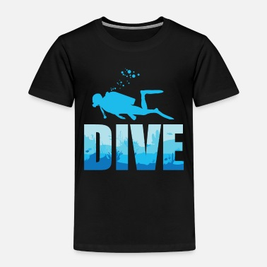 Diverse Scuba Diving Diverse Shadow Deep Swim TShirt Text - Premium T-shirt barn