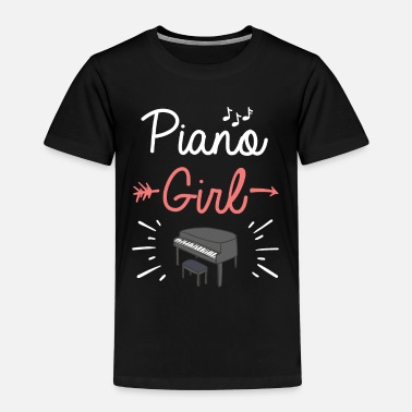Piano Piano Girl Piano Player Cute Pianist Music Notes - Kids' Premium T-Shirt