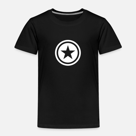 Star Camisetas - star single blackcircle - Camiseta premium niño negro