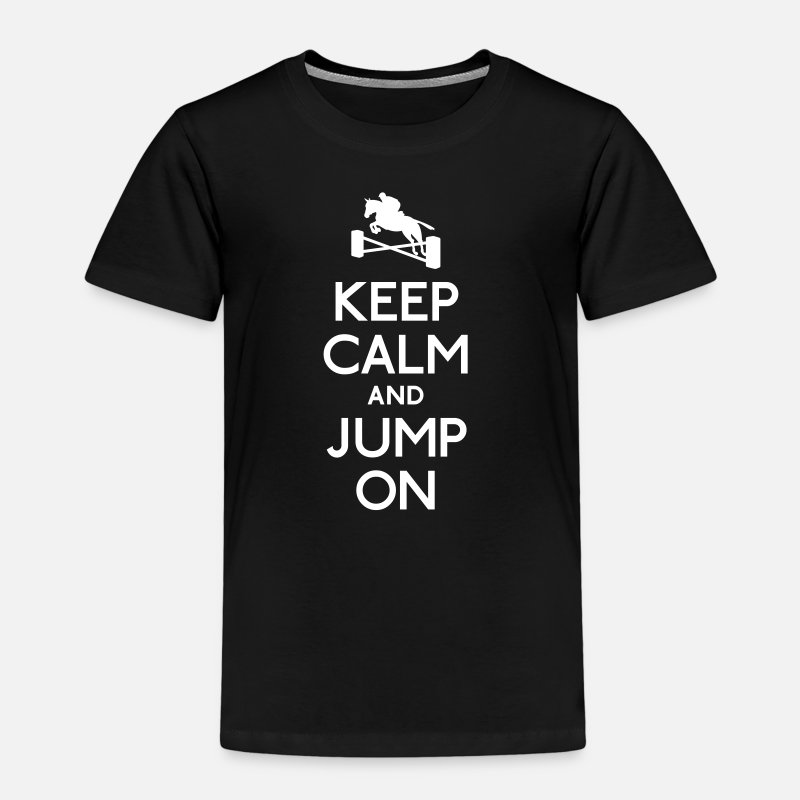 Cheval T-shirts - keep calm and jump on - T-shirt premium Enfant noir