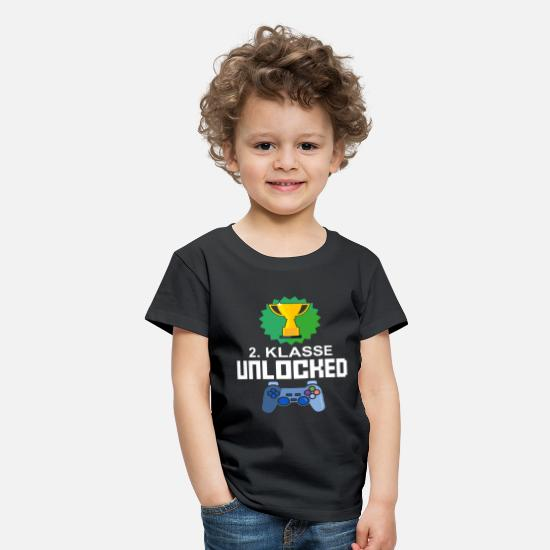 Gaming T-shirts - Niveau Unlocked 2. klasse gamer gaming gave - Premium T-shirt til børn sort