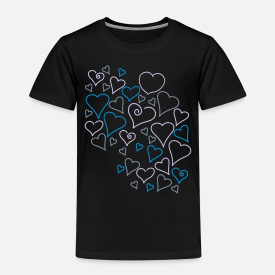 Heart T-Shirts - Couple of Hearts - Kids' Premium T-Shirt black