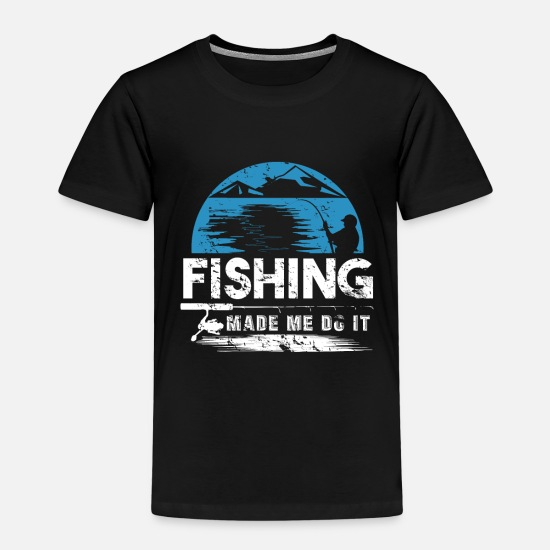 Birthday T-Shirts - Fishing Hobby Fishing Fish Angel - Kids' Premium T-Shirt black