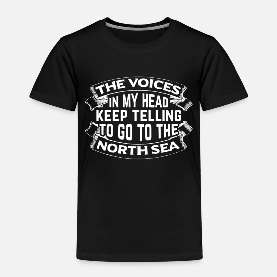 Travel T-Shirts - To go to the North Sea - Kids' Premium T-Shirt black