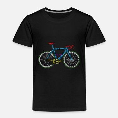 Bike Bicycle anatomy for bike and cycling lovers - Kids' Premium T-Shirt