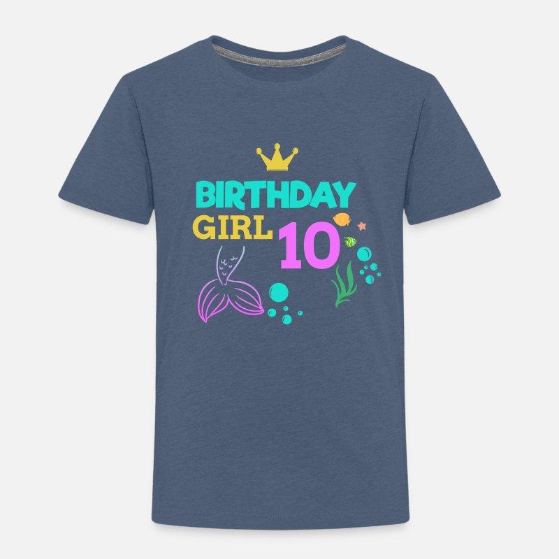 10 Birthday Girl Ten 10th Boy Kids Von Tshirt Fabric