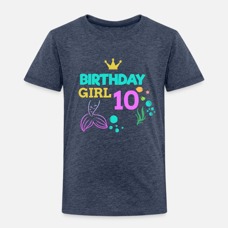 10 Birthday Girl Ten 10th Boy Kids Kinder Premium T Shirt