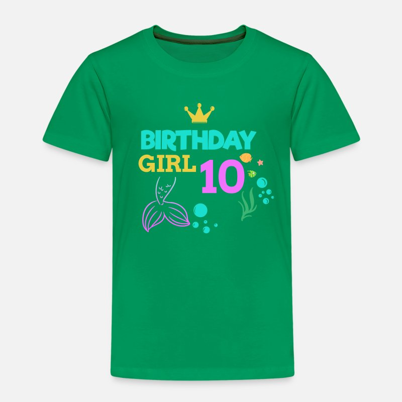 10 Birthday Girl Ten 10th Boy Kids Kinder Premium T Shirt