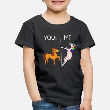 Licorne Cadeau de canne à danse avec perche Licorne et chevaux - T-shirt  Premium e8a466c74c7