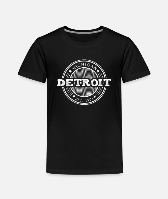 Auto T-shirts - Detroit Michigan - T-shirt premium Enfant noir